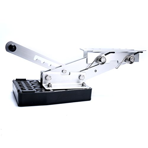 Amarine-made Heavy Duty Aluminium Marine Outboard Auxiliary Boat Motor Bracket 7.5hp-20hp - 07953aa (Auxiliary Outboard Bracket compare prices)