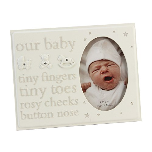 """Our Baby"" Cream Resin Icon Photo Frame By Haysom Interiors"