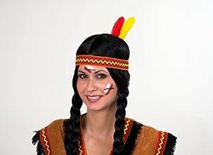 indianer kost m zubeh r stirnband mit federn zu karneval fasching spielzeug. Black Bedroom Furniture Sets. Home Design Ideas