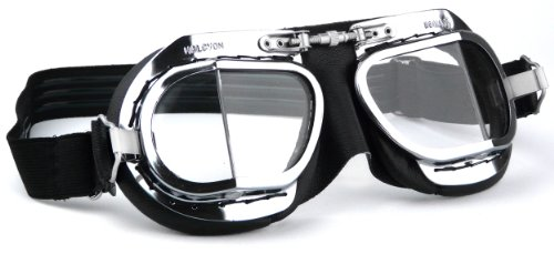 Mk9 Deluxe - Classic Motorcycle Goggles/Classic Flying Goggles by Halcyon
