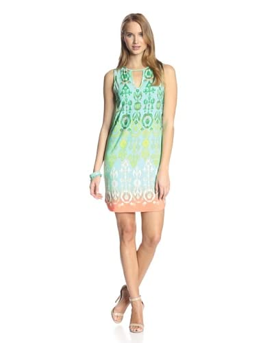 Ali Ro Women's Printed Dress with Keyhole