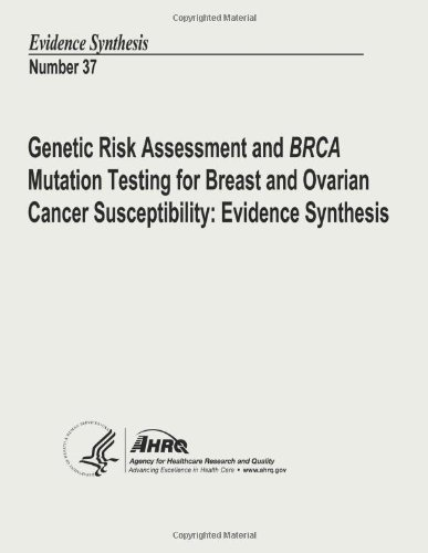 Genetic Risk Assessment And Brca Mutation Testing For Breast And Ovarian Cancer Susceptibility: Evidence Synthesis: Evidence Synthesis Number 37
