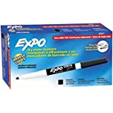 Expo Low-Odor Dry Erase Markers, Fine Point, 12-Pack, Black