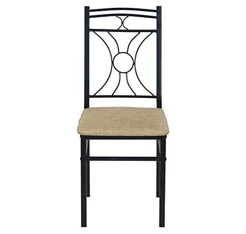 @home by Nilkamal Sidney Dining Chair (Matte Finish, Black)