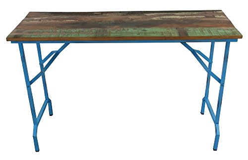 Recycling-Holz-Tisch-mit-Metall-Gestell-120-x-75cm