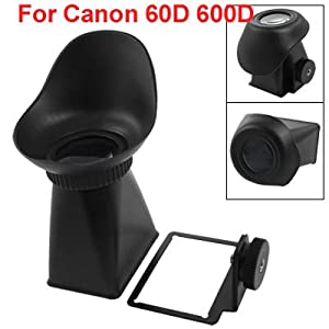 Gino Black Portable V3 LCD Viewfinder Loupes for Canon 600D 60D