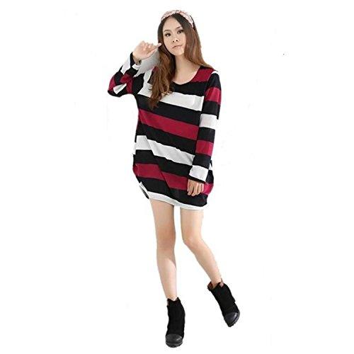 MEILISHO® Damen Kleid Lang Sleeve Loose Fit Perfect Für Plump Girls (Style 2)