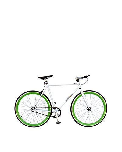 Galaxie Fixed Gear Bike, White/New/Green, 54cm