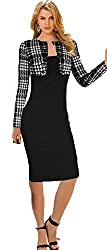 Babyonline Office OL Wear to Work Long Sleeve Bodycon Casual Party Pencil Dress