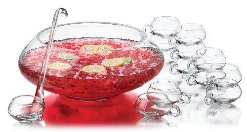 libbey 14 piece moderno punch bowl set - Spiked Halloween Punch Recipes