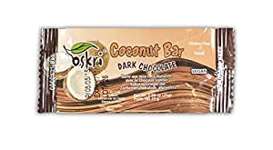 Oskri Coconut Original with Dark Chocolate, 0.88-Ounce Bars (Pack of 40)