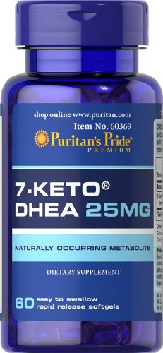 Puritan's Pride Rapid Release Softgels, 7-Keto Dhea, 25 mg, 60 Count