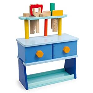 legler 1593 junior holz werkbank f r kinder inkl werkzeug blau baby. Black Bedroom Furniture Sets. Home Design Ideas