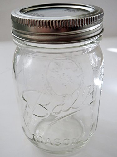 Ball Mason Jar-16 oz. Clear Glass Ball Heritage Collection-One Jar