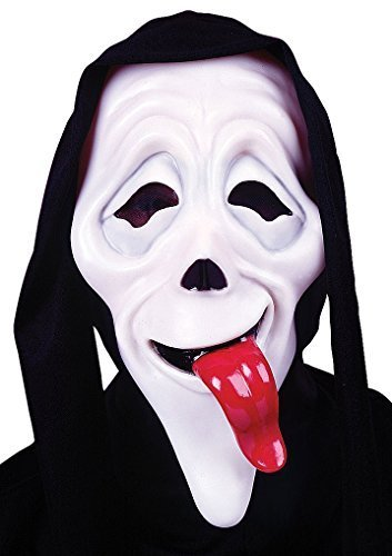 Uomo Come Va Scary Movie Mascherina Film Halloween Scream Horror Accessorio Per Costume - sintetico, Nero, 100% poliestere, Uomo, Misura unica