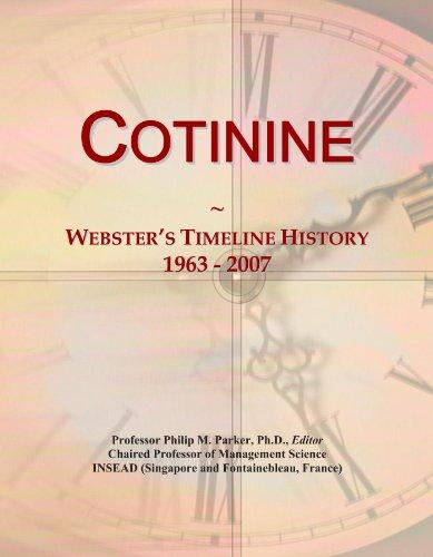Cotinine: Webster's Timeline History, 1963 - 2007