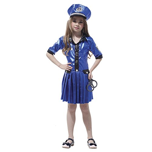 Dr.mama Childrens Halloween Cosplay Performance Clothing Party Costumes (Police Officer Uniform) (Dress Up Police Uniform)