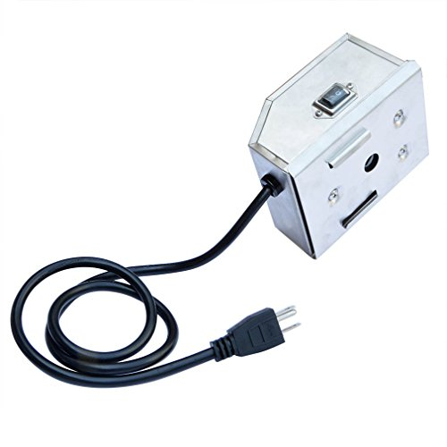 Onlyfire Universal Grill Electric Replacement Stainless Steel Rotisserie Motor 120 volt 4 Watt On/Off Switch- 50 lb. Load, OEM/ODM, Aftermarket