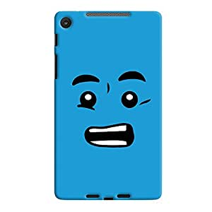 ColourCrust Asus Google Nexus 7 Mobile Phone Back Cover With Quirky Smiley - Durable Matte Finish Hard Plastic Slim Case
