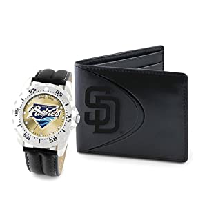 Mens MLB San Diego Padres Watch & Wallet Set by Jewelry Adviser Mlb Watches