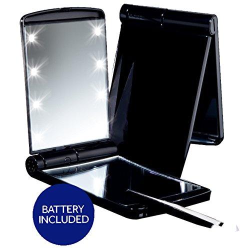 Sale Deluxe Led Compact Makeup Mirror Black True