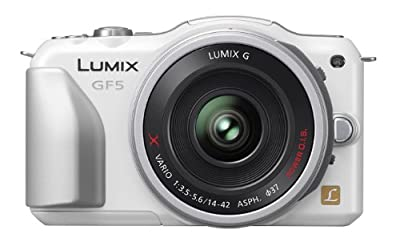 Panasonic ルミックス デジタル一眼カメラ/レンズキット(14-42mm/F3.5-5.6電動ズームレンズ付属) フルハイビジョンムービー一眼 シェルホワイト DMC-GF5X-Wの商品の写真