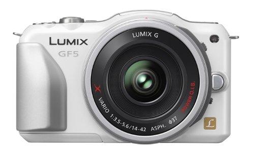 Panasonic デジタル一眼カメラ ルミックス GF5 レンズキット 電動ズームレンズ付属 シェルホワイト DMC-GF5X-W