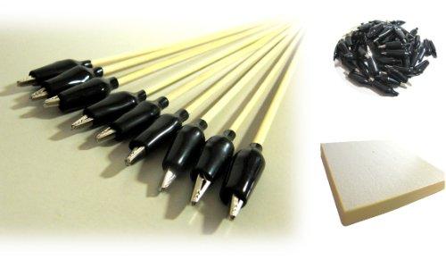 (SYA) 選べる 塗装 ペインティング クリップ 塗装 持ち手 台座付 / プラモデル フィギア ガンプラ ペイントに (50本)