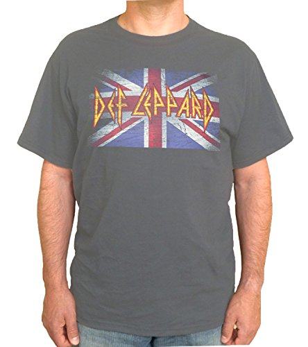 Def Leppard - Vintage Jack Adult Overdye T-shirt in Charcoal