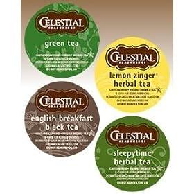 Celestial Seasoning Tea Variety Pack (22 K-Cups) Keurig