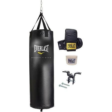 Everlast 70 lbs. Heavy Bag Kit with Accessories Included: Boxing...
