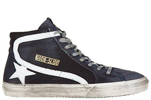 Golden-Goose-zapatos-zapatillas-de-deporte-largas-hombres-en-piel-nuevo-slide-bl