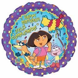 Dora the Explorer Birthday 18in Balloon - 1