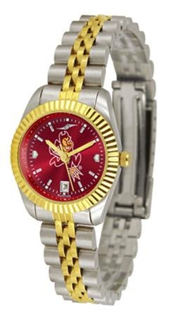 Arizona State Sun Devils ASU NCAA Womens Anochrome Gold Watch