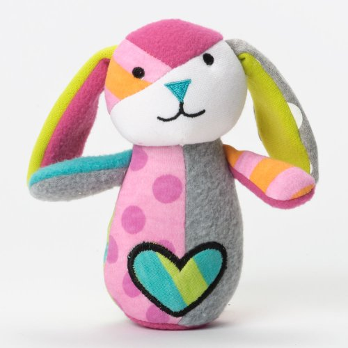 "Britto Bebe From Enesco Rattle, Bunny, 6"" (Discontinued by Manufacturer)"