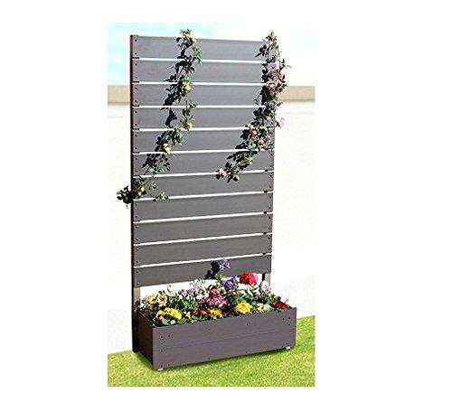 プランタボックス付コンフォートフェンス 幅90センチx高さ180センチ 板間隔1センチ ダークブラウン