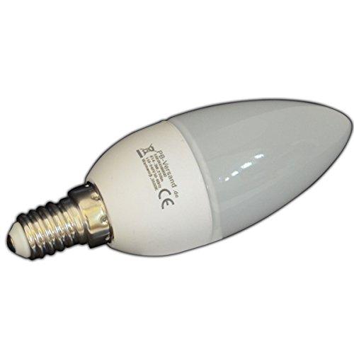 Set di 3 lampadine a candela, a LED, risparmio energetico, attacco E14, luce bianca calda