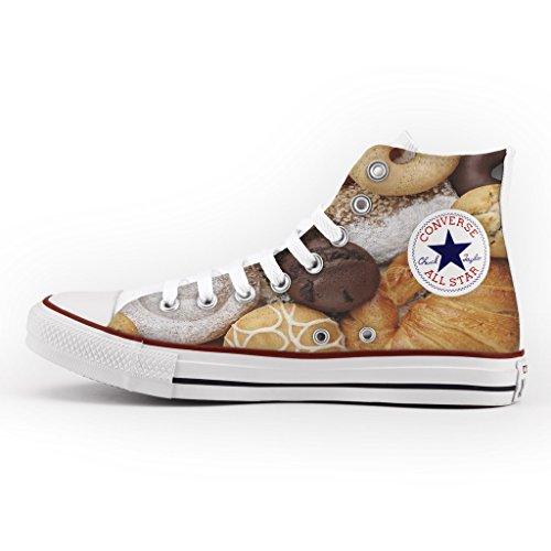 Converse Personalizzate All Star Alta - scarpe artigianali - Pastries