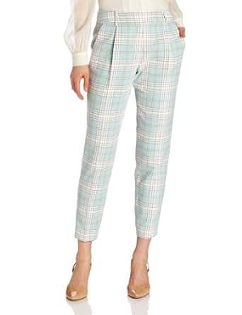 Pendleton Women's Pomona Plaid Pants, Canal Blue Plaid, 4
