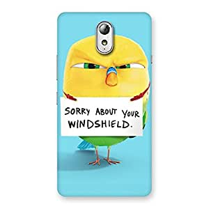 Gorgeous Cute Sorry Print Back Case Cover for Lenovo Vibe P1M