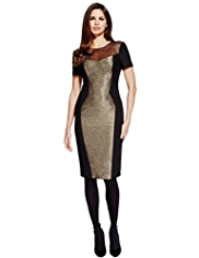 Per Una Speziale Sheer Shift Dress with Wool