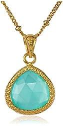 "Coralia Leets Jewelry Design ""Riviera Collection"" Teardrop Necklace, 17"""
