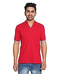 Le Bon Ton Men's Cotton Blend T-Shirt (AMZ_AMP_110_Orange_Medium)