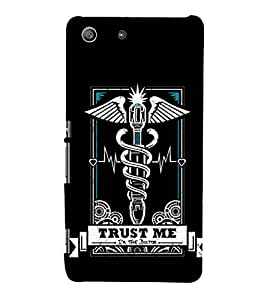 EPICCASE Trust the doc Mobile Back Case Cover For Sony Xperia M5 (Designer Case)
