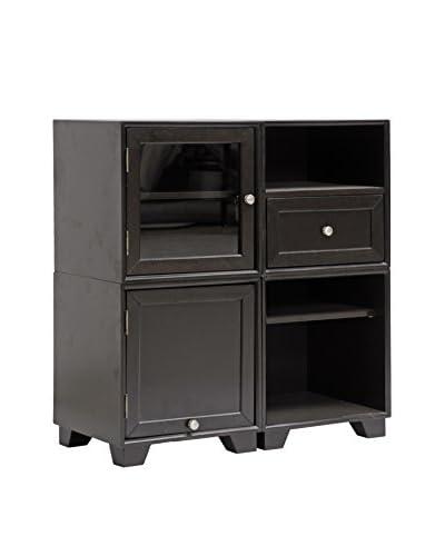 Baxton Studio Alaska Modular Storage Cabinet, Dark Brown