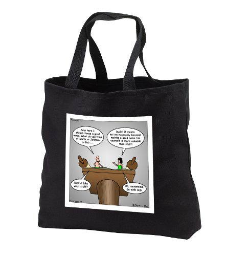 Proverbs 22 1 9 Whats In Your Wallet Bible Good Name Riches Bob Scroll Scripture Geneology - Black Tote Bag 14W X 14H X 3D front-1060016