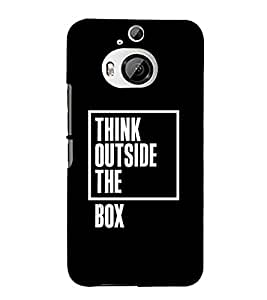 Think Outside The Box 3D Hard Polycarbonate Designer Back Case Cover for HTC One M9+ :: HTC One M9 Plus