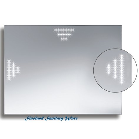Badspiegel BELEUCHTET Wandspiegel BELEUCHTUNG Spiegel LICHT Badwandspiegel aus Kristall YJ-695E