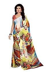RadadiyaTRD Women's Georgette Printed Saree
