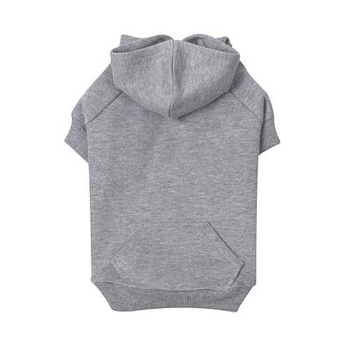 Zack & Zoey Polyester/Cotton Basic Dog Hoodie, Small, 12-Inch, Heather Gray
